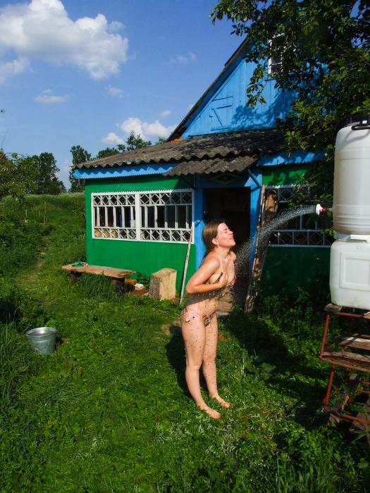 Сделать душ в деревне